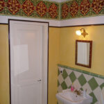 """Schablonentechnik auf der Wand, orientalisches Ornament, Entwurf: """"die Farbküche"""""""