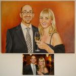 50 x 70cm, Ölfarben auf Leinwand, nach Fotovorlage
