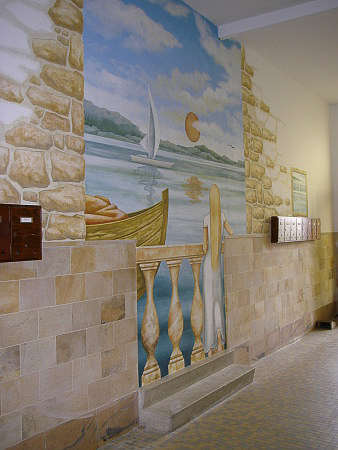 ca 3,90 hoch und 5,50m breit, Idee - Hauseigentümer, Entwurf: die Farbküche