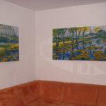 """70 x 100 und 70 x 160cm, Theatermalfarben auf Leinwand, Entwurf - """"die Farbküche"""""""