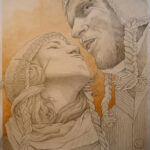 30 x 40cm, Bleistift und Acrylfarbe auf Papier, nach Fotovorlage