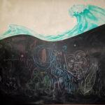 Malerei auf blanker Wand